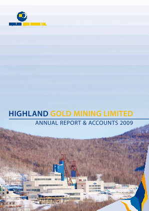 Highland Gold Mining annual report 2009