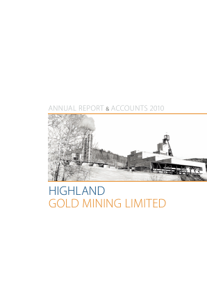 Highland Gold Mining annual report 2010