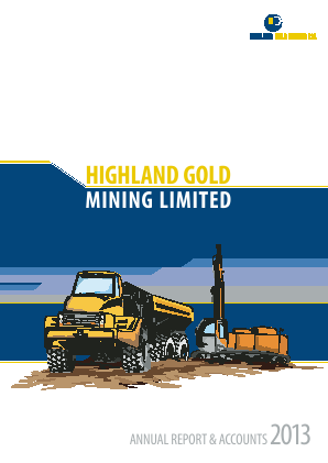 Highland Gold Mining annual report 2013