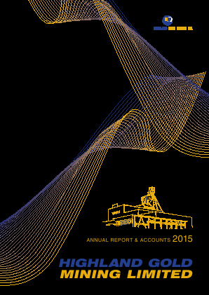 Highland Gold Mining annual report 2015