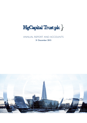 HG Capital Trust annual report 2015