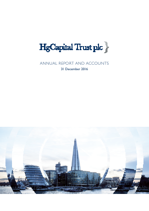 HG Capital Trust annual report 2016