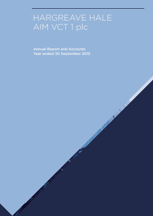 Hargreave Hale Aim VCT 1 Plc annual report 2015