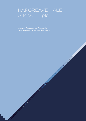 Hargreave Hale Aim VCT 1 Plc annual report 2016