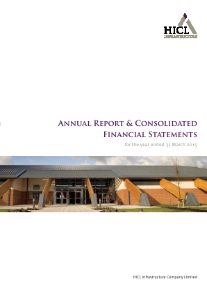 HICL Infrastructure Co Ltd annual report 2015