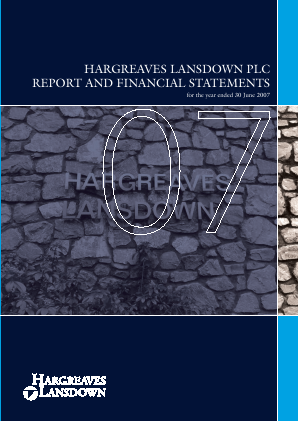 Hargreaves Lansdown Plc annual report 2007