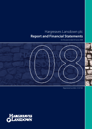 Hargreaves Lansdown Plc annual report 2008