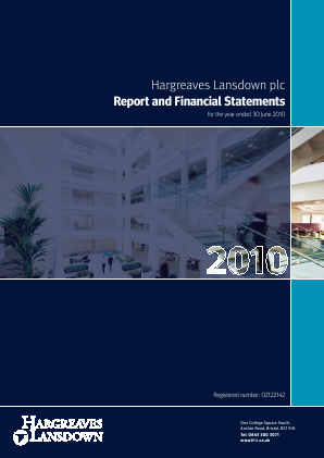 Hargreaves Lansdown Plc annual report 2010