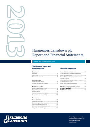 Hargreaves Lansdown Plc annual report 2013