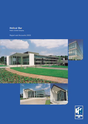 Helical Plc annual report 2003