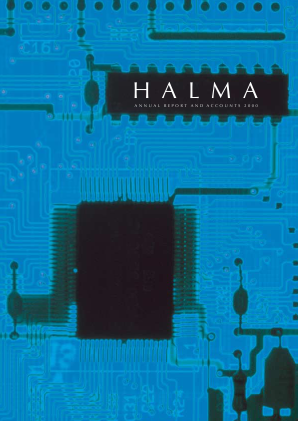 Halma annual report 2000