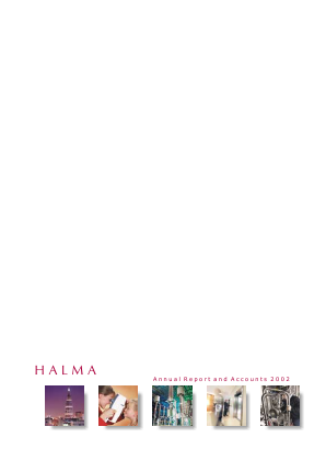 Halma annual report 2002