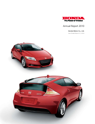 Honda Motor annual report 2010