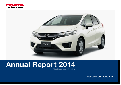 Honda Motor annual report 2014
