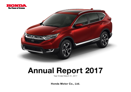 Honda Motor annual report 2017