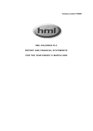HML Holdings Plc annual report 2009