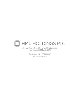 HML Holdings Plc annual report 2018