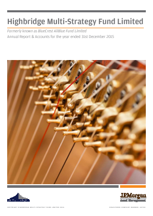 Highbridge Multi-Strategy Fund annual report 2015