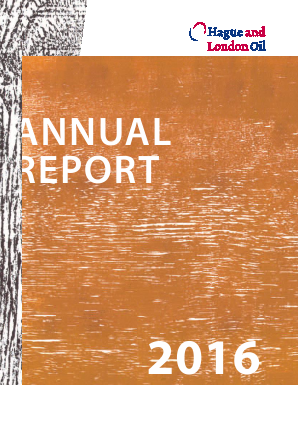 Hague & London Oil Plc annual report 2016