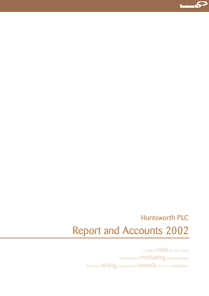 Huntsworth annual report 2002