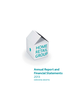 Home Retail Group Plc annual report 2013
