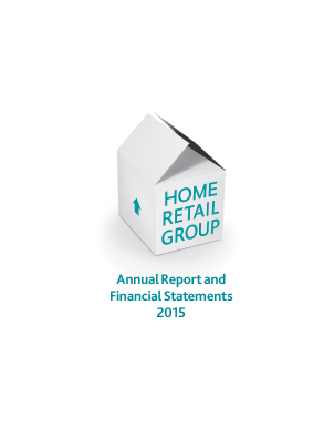 Home Retail Group Plc annual report 2015
