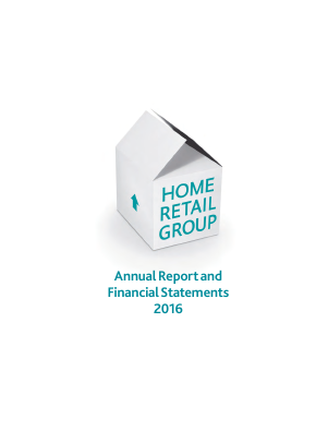 Home Retail Group Plc annual report 2016