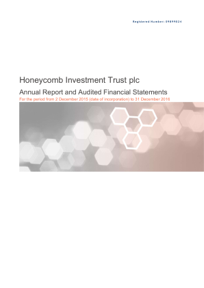 Honeycomb Investment Trust annual report 2016