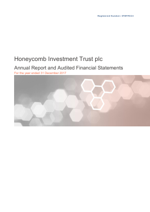 Honeycomb Investment Trust annual report 2017