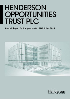 Henderson Opportunities Trust Plc annual report 2014