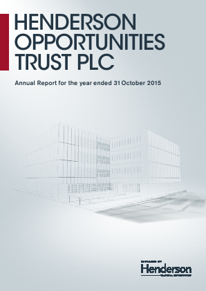Henderson Opportunities Trust Plc annual report 2015