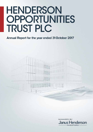Henderson Opportunities Trust Plc annual report 2017