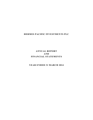 Hermes Pacific Investments Plc annual report 2014