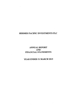 Hermes Pacific Investments Plc annual report 2015