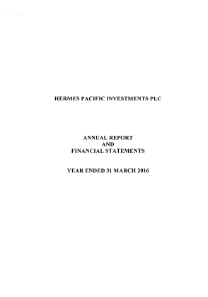Hermes Pacific Investments Plc annual report 2016