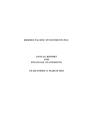 Hermes Pacific Investments Plc annual report 2018