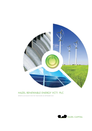 Hazel Renewable Energy VCT 1 Plc annual report 2012