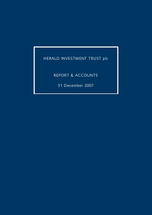 Herald Investment Trust annual report 2007