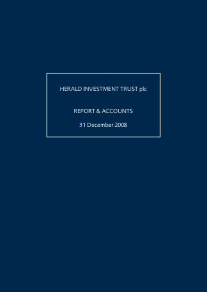 Herald Investment Trust annual report 2008
