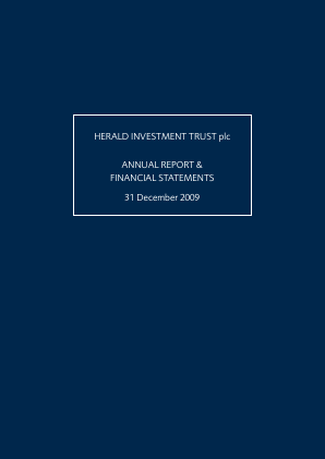 Herald Investment Trust annual report 2009