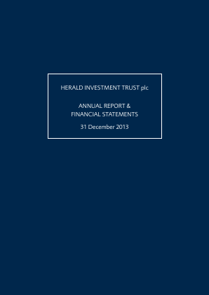 Herald Investment Trust annual report 2013
