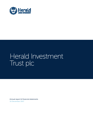 Herald Investment Trust annual report 2017