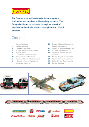 Hornby Plc annual report 2011