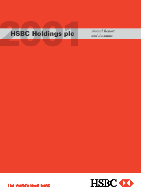 HSBC Holdings annual report 2001