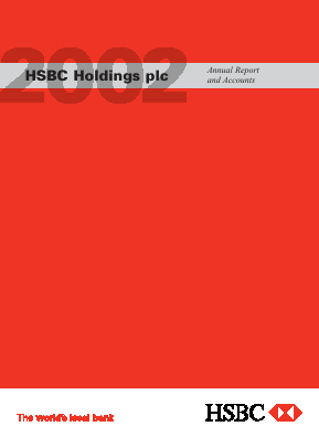 HSBC Holdings annual report 2002