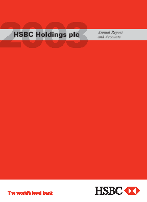 HSBC Holdings annual report 2003