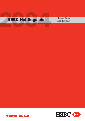 HSBC Holdings annual report 2004