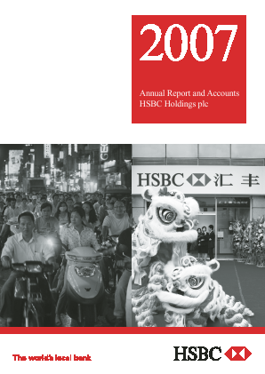 HSBC Holdings annual report 2007