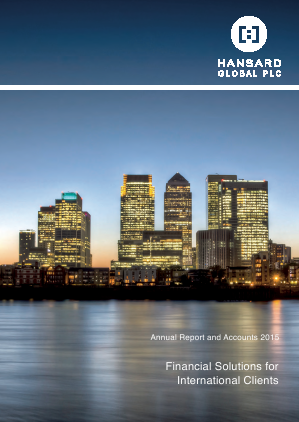 Hansard Global Plc annual report 2015