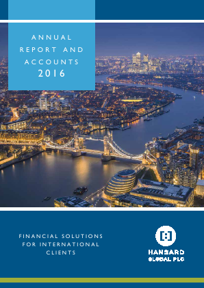 Hansard Global Plc annual report 2016
